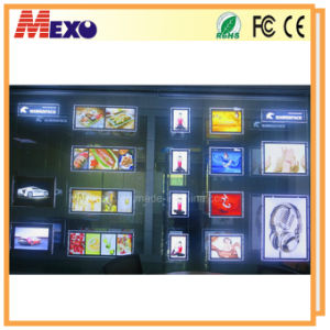 Acrylic Hanging Slim LED Advertising Sign Boards Design pictures & photos