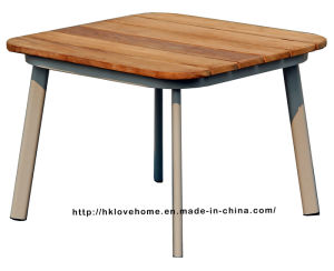 Modern Restaurant Metal Steel Wooden Dining Coffee Table pictures & photos
