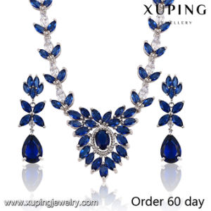 Fashion Luxury Rhodium Leaf -Shaped CZ Diamond Jewelry Set for Wedding (S-19) pictures & photos