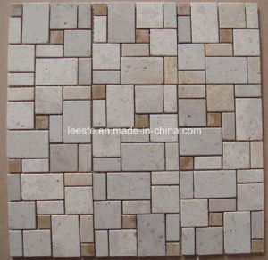 4mm Thick Travertine Mosaic, Mosaic Tiles and French Pattern Mosaic pictures & photos