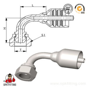 90° Bsp Female 60° Cone Hydraulic Integrated Hose Fitting/Union Fitting (22691Y) pictures & photos