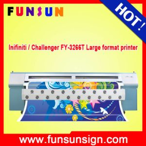 Infiniti / Challenger Fy-3266t 3.2m Solvent Printing Machine with 6 Spt 1020heads Fast Printing Speed and High Resolution pictures & photos