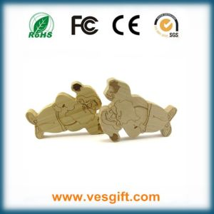 New Promotional Gift Wooden Cartoon Characters USB Memory Stick pictures & photos