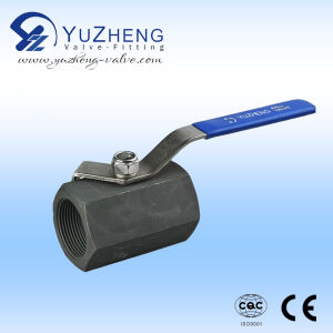 Carbon Steel 1PC Ball Valve Operated by Manual pictures & photos