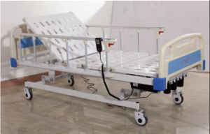 Electric and Manual Hospital Bed with Three Functions pictures & photos