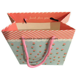 Satin christmas Paper Gift Bag