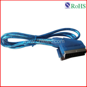 100% Tested 21p Male to Male Hami Cable AV Cable Scart Cable (SY016) pictures & photos