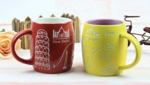 Ceramic Coffee Mug with 3D Pattern pictures & photos