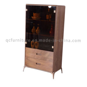 Wooden Wire Cabinet with Golden Stainless Steel Frame pictures & photos