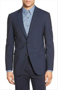 Wholesale OEM Fit Men′s Navy Suit Blazer pictures & photos