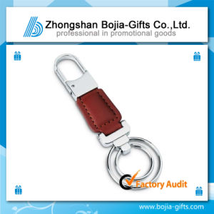 Promotional Zinc Alloy Key Chain with Leather (BG-KE430)
