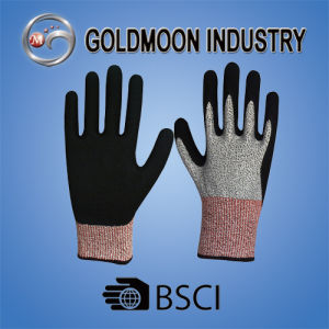 13G Nitrile Cutting Resistance Level 3 Safety Work Glove pictures & photos