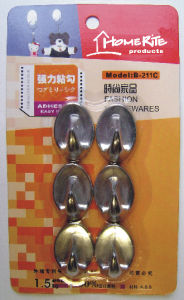Plastic Adhesvie Hook (HK001C) Chrome for Household Products