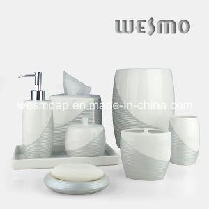 Metallic Paint Porcelain Bathroom Set (WBC0710A) pictures & photos