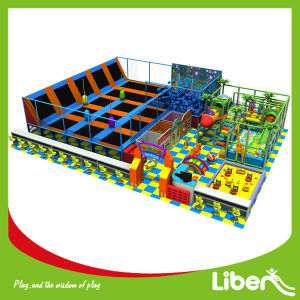 Import Mat Commercial Indoor Trampoline with Kids Playground pictures & photos