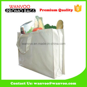 Recycle White Cotton Grocery Tote Bag for Super-Market Shopping pictures & photos