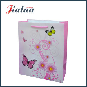 128GSM Coated Paper Flowers Promotional Shopping Packing Gift Paper Bag pictures & photos