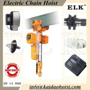 5ton Electric Chain Hoist with Safety / Loading Clutch with Plain Trolley pictures & photos