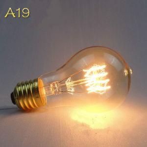 A19 Antique Edison Vintage Light Bulb Quad Loop/Squirrel Cage/Spiral pictures & photos