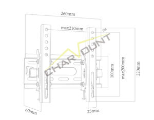 High Quality Cheap Custom LCD TV Wall Mount/TV Bracket (CT-PLB-E901) pictures & photos