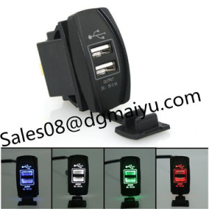 New Waterproof Automobile Motorcycle General 3.1A Dual Ubs Car Charger with LED Indicator 12-24V pictures & photos