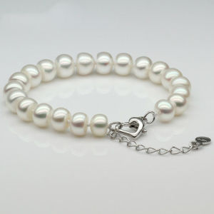 Simple Design 8-9mm AAA Button Round Freshwater New Design Pearl Bracelet pictures & photos