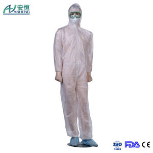 Disposable Yellow Isolation Gown with Elastic Wrists Universal Quantity pictures & photos