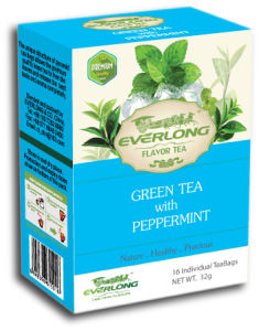 Peppermint Flavored Green Tea Pyramid Tea Bag Premium Blends Organic & EU Compliant (FTB1511) pictures & photos