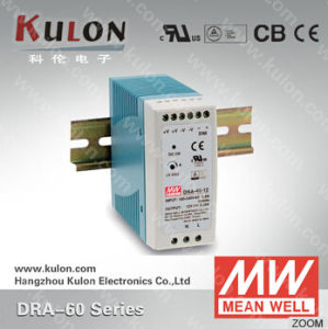 Mean Well Power Supply Dra-60 Industrial DIN Rail Switching Power Supply 12V 24V 48V
