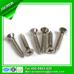 Custom Made 8# Cross Flat Head Self Tapping Stainless Steel Screw pictures & photos