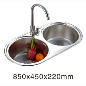 Kitchen Stainless One Stretched Sink (8545xb) pictures & photos