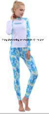 Women`S Lycra Two-Piece Rash Guard for Swimwear, Diving Wear, Sports Wear pictures & photos