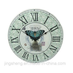 Handmade Imitation Antique Islamic Wall Clock Wooden Clock pictures & photos