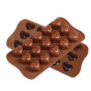 Food Grade Heart Shape Silicone Chocolate Mould