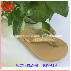 Summer Fashion PU Sandals Beach Flip Flops with EVA Sole pictures & photos