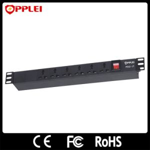 6 Ports Rack Mount Black PDU Socket Power Strip pictures & photos