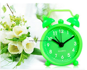 Unbreakable Bedroom Mute Silicone Mini Table Alarm Clocks for Home Decoration pictures & photos