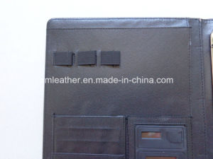 A4 PU Leather 3 Ring Portfolio with Calculator pictures & photos