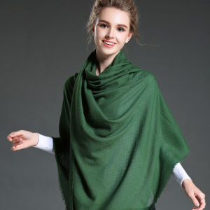 Women in Winter to Keep Warm Plain Green Polyester Scarf pictures & photos