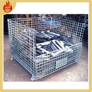 Collapsible Industrial Steel Heavy Duty Wire Mesh Container pictures & photos