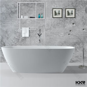 Kingkonree Modern Design Adult Used White Artificial Stone Bathtub pictures & photos