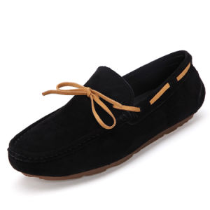 Casual Driving Shoes Leather Fashion Soft Comfortable Footwear (AK9808) pictures & photos