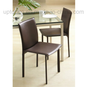 High Grade Stacking Brown Leather Restaurant Cafe Chair (SP-LC227) pictures & photos