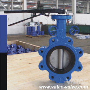 Pn16 Dn50/Dn100/Dn200/Dn250 EPDM/Nr/Rubber Lined Butterfly Valve Flange pictures & photos