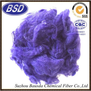 Colored Cheap Polyester Staple Fiber PSF with Good Quality pictures & photos