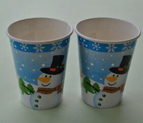 8oz Christmas Cold and Hot Paper Cups Disposable pictures & photos