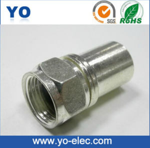 Long Barrel Crimp F Connector (YO 2-010B)