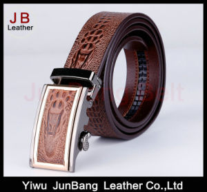Designer Belt Men Without Holes Automatic Buckle Crocodile Leather Belt