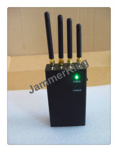 Portable Cell Phone & WiFi Jammer; Portable Black Color 4 Bands Cell Phone Jammers with 4PCS Omni-Directional Antenna pictures & photos