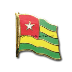 Customize National Flag Soft Eanmel Metal Lapel Pin/Badge (QL-Hz-0005) pictures & photos